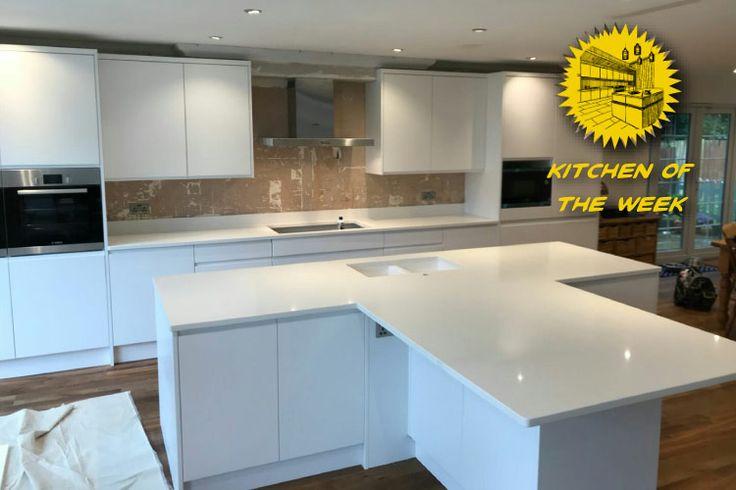 Kitchen of the week… Located in Broxbourne, Herts, showcasing the Bianco Puro