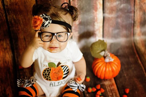 3 Pc. Baby GIRLS PUMPKIN OUTFIT setGirls Pumpkin by BetterThanBows