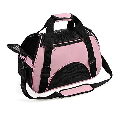 Portable Pet Carrier Airline Approved - Travel Pet Carrier with Bottom Cushion Pad Cat Carrier Puppy Carrier Under Seat Cat in a Bag Carrier Soft Sided Pet Carrier for Small Dog, Kitten, Rabbit, Cat.