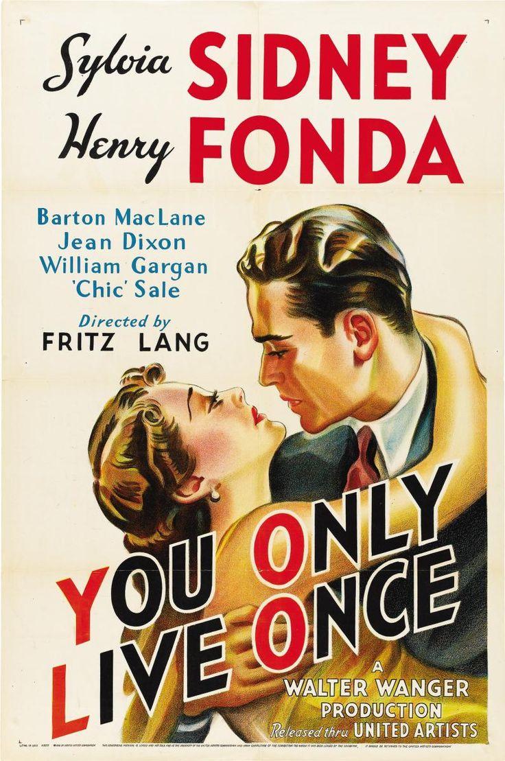 DVD CINE 1788 -- Sólo se vive una vez (1937) EEUU. Dir.: Fritz Lang. Dereito. Sinopse: Henry Fonda é un delincuente de pouca sonada condenado tres veces pero acusado dun asasinato que non cometeu. Decide entón escapar do cárcere, pero esta decisión e a fatalidade pecharanlle a posibilidade de seguir un camiño recto na sociedade, a pesar de contar co apoio dunha muller que lle ama.