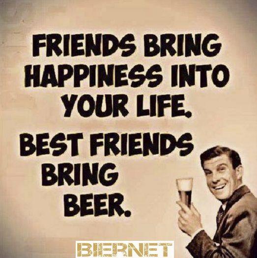 Je beste vrienden brengen bier mee
