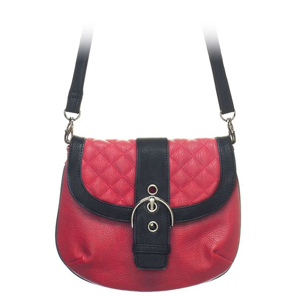 "Leigh-Red Grace Adele Clutch    Sophisticated — but never stuffy. Classic quilt detailing or sleek animal print cinched with an oversized silver buckle.     Fits inside the exterior pocket on your favorite Grace Adele bag.     • Faux leather  • 10"" L, 8"" H  • 50.5"" detachable/adjustable strap    https://myfashions.graceadele.us/GraceAdele/Buy/ProductDetails/10578"