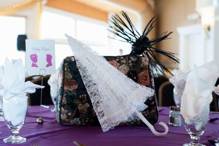 Disney Mary Poppins centerpiece Gregwoodphotographycom  Wedding  Disney bridal showers