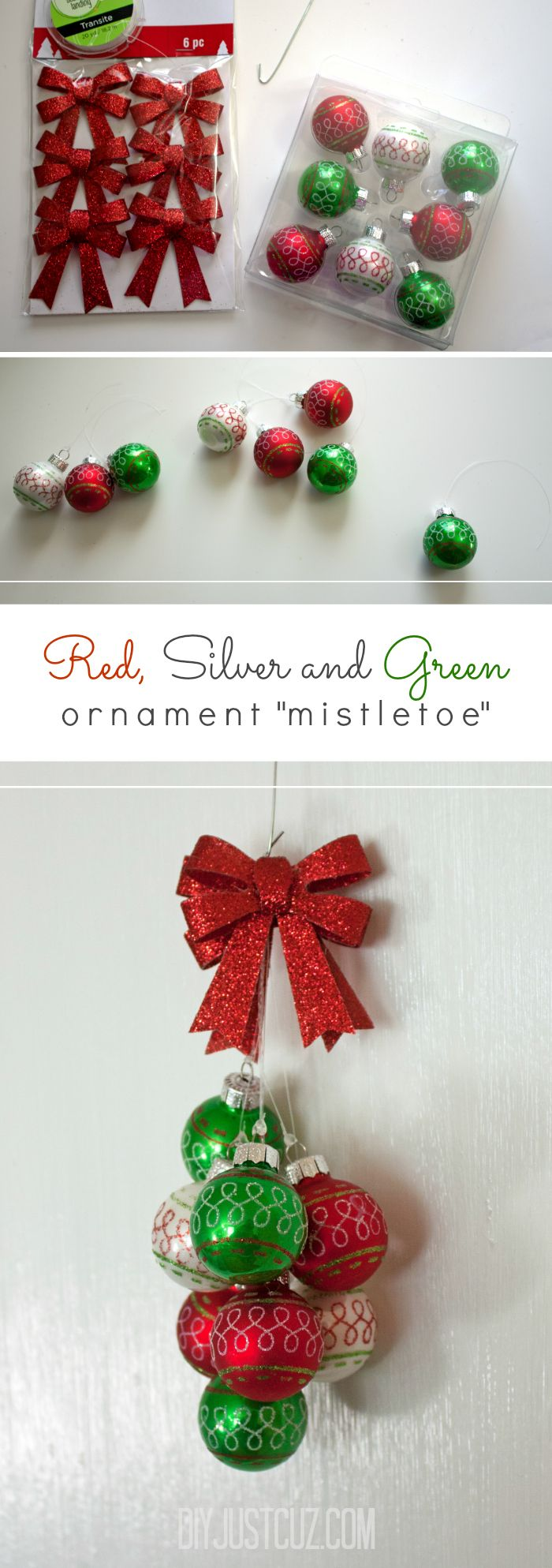 Where in the world was mistletoe first hung as a christmas decoration - Ornament Mistletoe Tutorial Swap