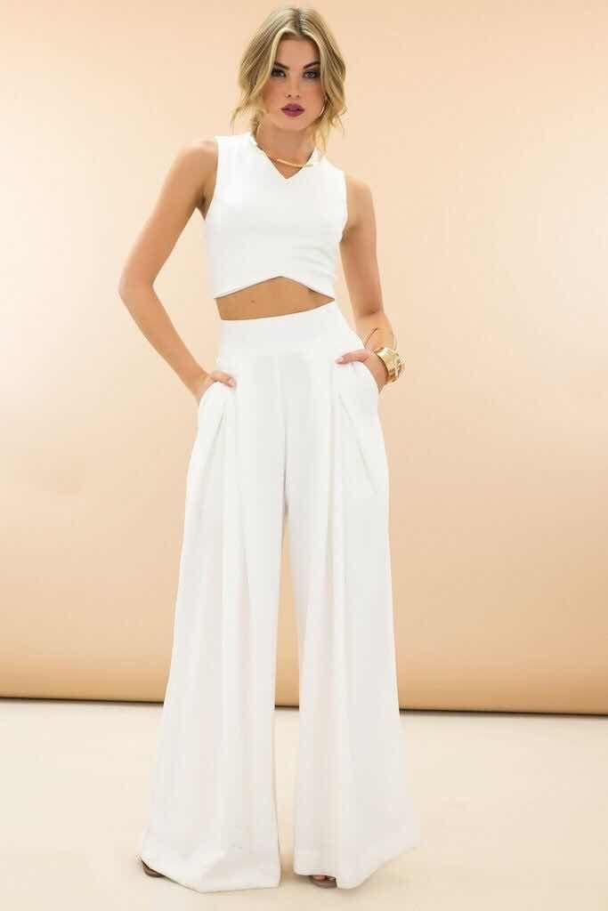33+ Outfits con Pantalones Palazzo de Moda (2018)  44e6723a080
