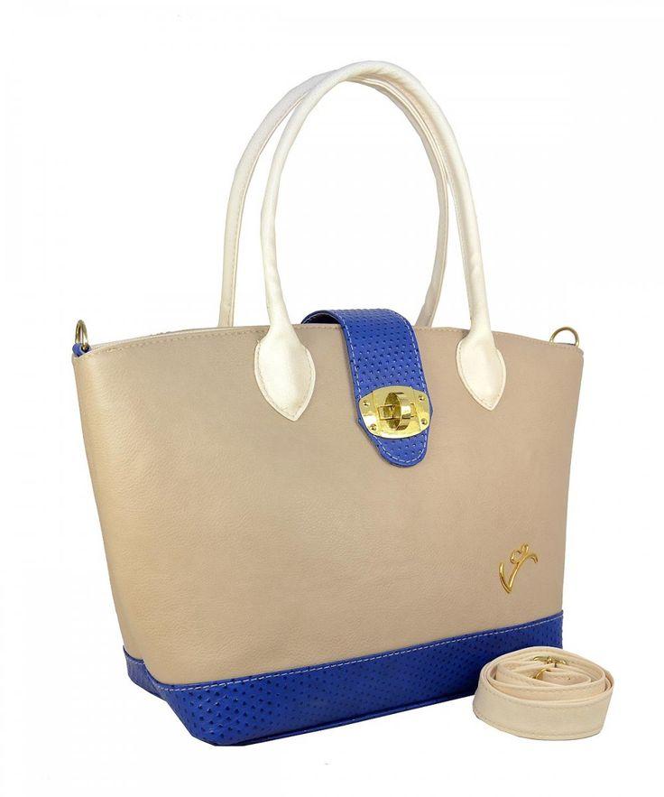 Μπλε γυναικεία τσάντα ώμου Veta