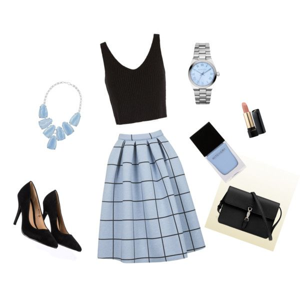 Elegant set for summer by sostudd on Polyvore featuring Exclusive for Intermix, Topshop, Lipsy, Gucci, Kendra Scott, Michael Kors, Lancôme and Witchery