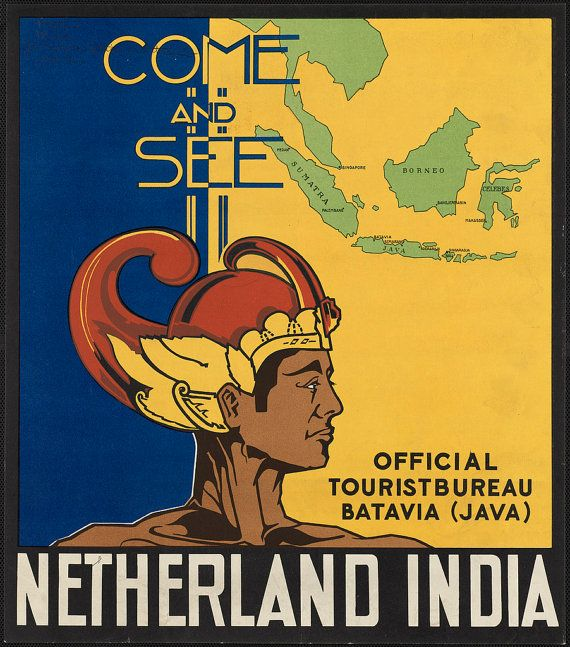 1930s See Netherland India Poster Print by PhotosandBacon on Etsy
