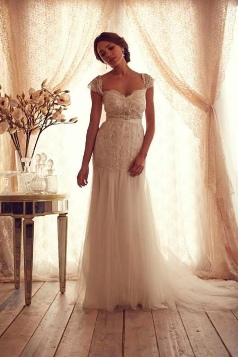 Wedding Dress Anna Campbell I Love This It Hits A Good Spot On The