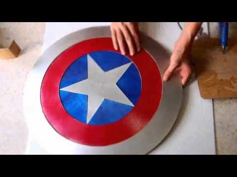 ▶ #44: Captain America's Shield DIY 2/2 - Hot Glue + 'Cardboard' (PDF template) - YouTube