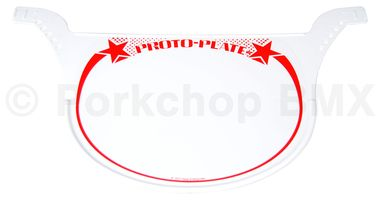 Red Neal Enterprises Proto-Plate BMX Number Plate
