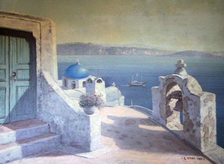"Original Painting ""Untitled Mediterranean Landscape II"" by Sam Park"
