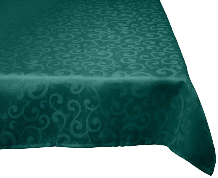 Amazon.com   DII 100% Polyester, Damask, Machine Washable Tablecloth Dark  Green