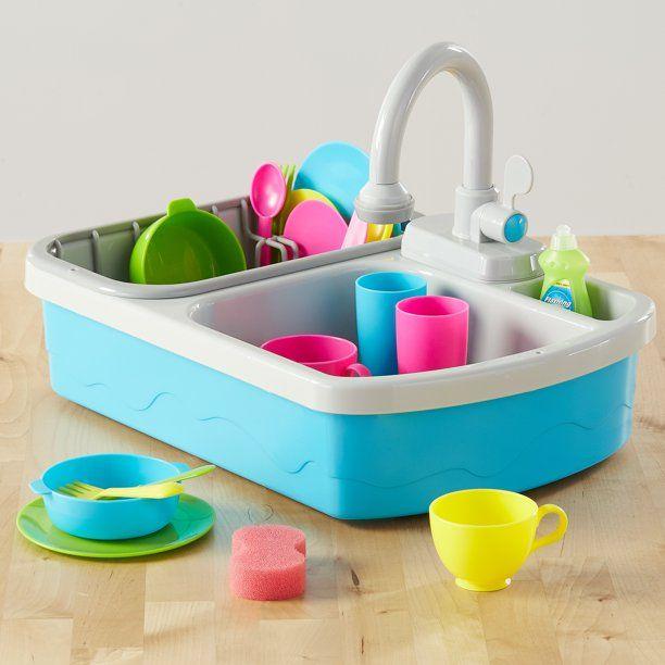 Spark Create Imagine Kitchen Sink Play Set 20 Pieces Walmart Com Toy Kitchen Playset Play Kitchen