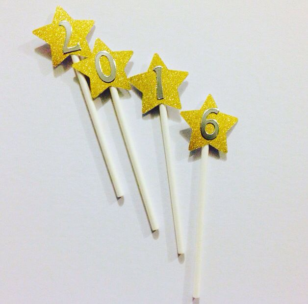 Happy new year cake toppers 2016  www.tjparties.com