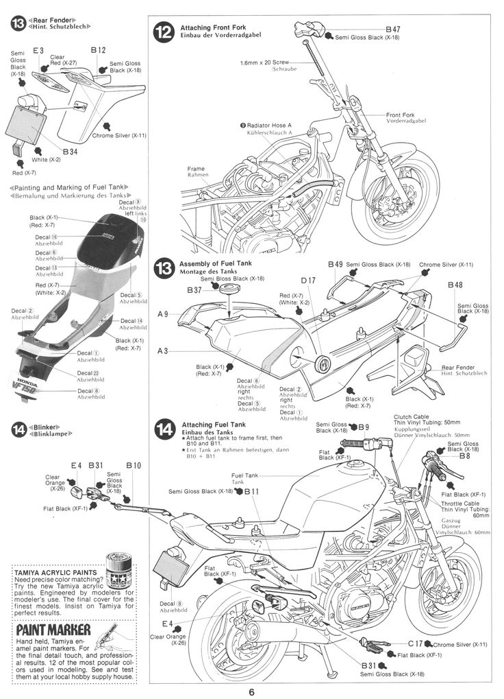 35 best Tamiya 1/12 Honda VF750F images on Pinterest