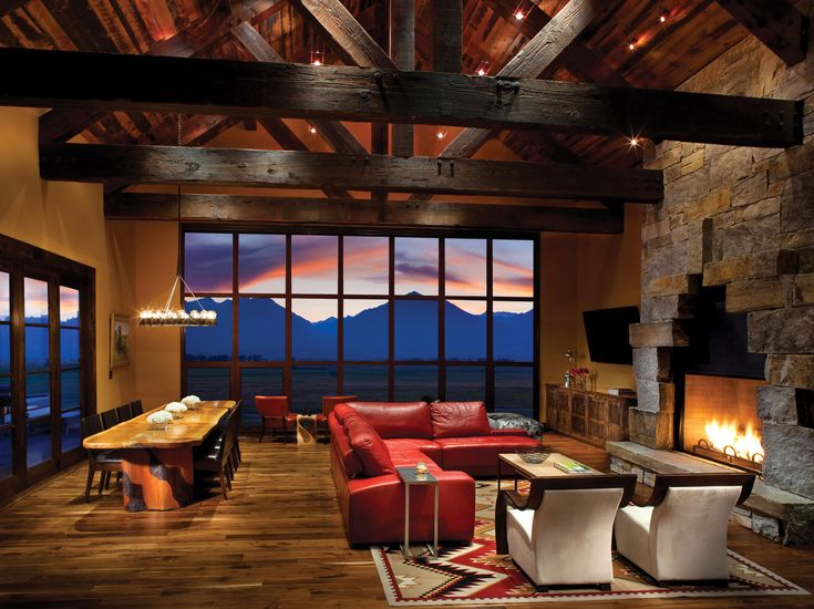 McGregor Lake Oversized Ledge #modern #stone #fireplace #mountainmodern