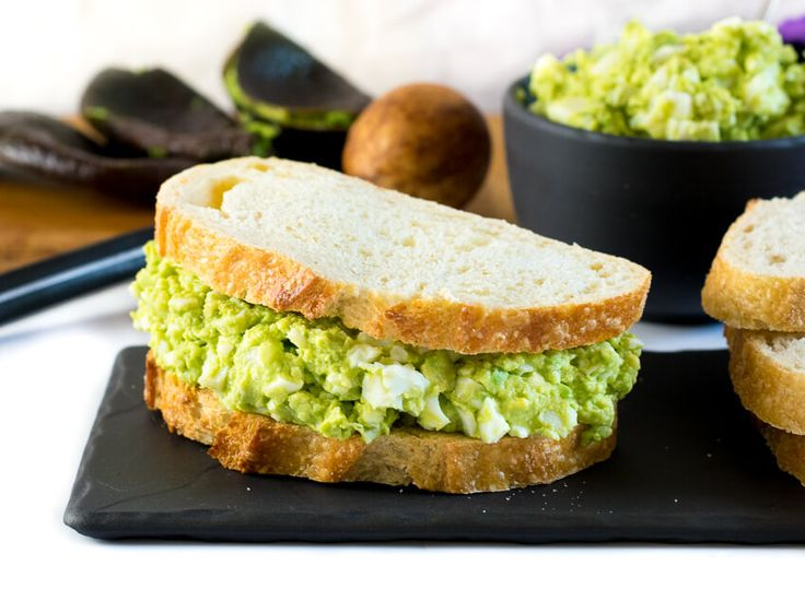 This Healthy Avocado Egg Salad is made with simple all natural ingredients and is mayo free. Avocado adds flavor to this creamy classic without the guilt!