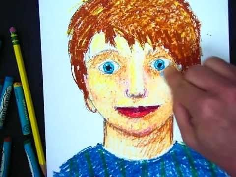 (15 minute how-to) Tutorial teaching self-portraits with oil pastels. Wonderful video!