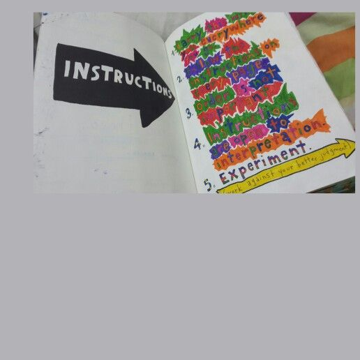 Wreck This Journal (WTJ) .Instructions