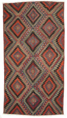 Kelim semi-antiek Turkey tapijt 173x320