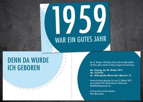 Einladung 1959 Einladung 60 Geburtstag Einladung 70