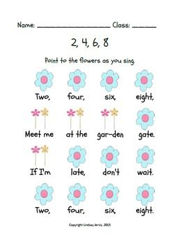 2, 4, 6, 8, MEET ME AT THE GARDEN GATE: A SONG FOR TEACHING TA AND TITI - TeachersPayTeachers.com