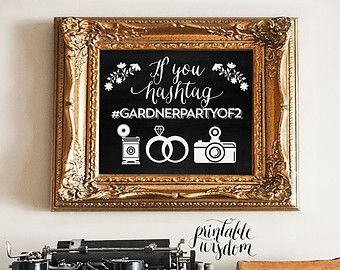 7 best hashtag wedding sign images on pinterest bridal shower