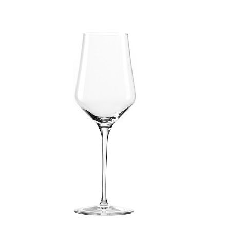 Oberglas Elegant- White  The Elegant White wine glass from Oberglas features a straight and tall 'U' shape, which allows the aromas to be released while also maintaining a cooler temperature  Capacity: 13.5oz