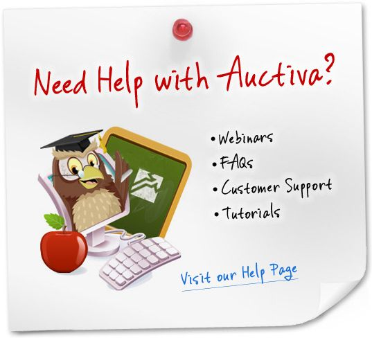 Auctiva Help Section