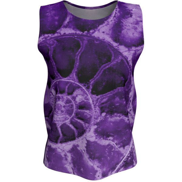 Ultra Violet Tank Top, Loose or Fitted Womens Shirt, Casual Fashion,... ($28) ❤ liked on Polyvore featuring tops, long-sleeve crop tops, purple tank top, loose tank top, long shirts and crop tank