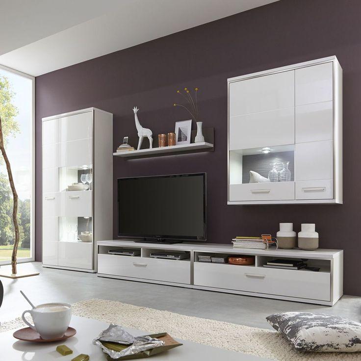 Wohnwand weiß grau hochglanz  Die besten 25+ Wohnwand weiß hochglanz Ideen auf Pinterest | Tv ...