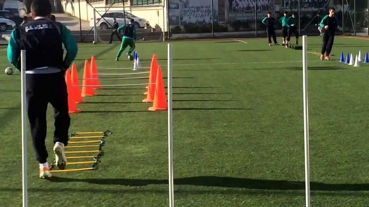 U-16 Football Training Drill : Aerobik Dayanıklılık Antrenmanı - Aerobic Endurance Training - YouTube