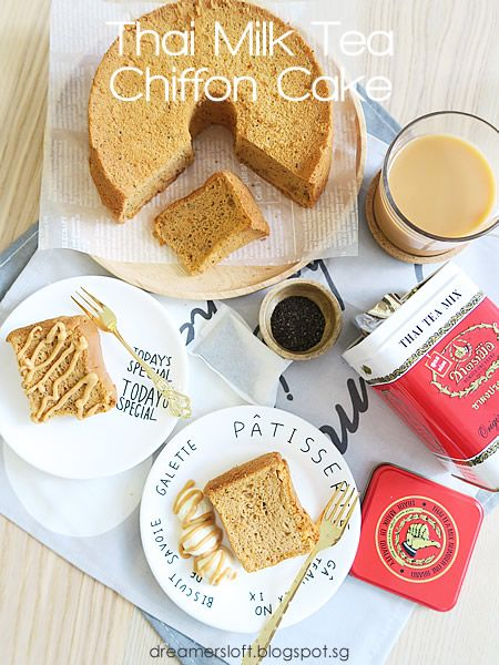 Thai Milk Tea Chiffon Cake