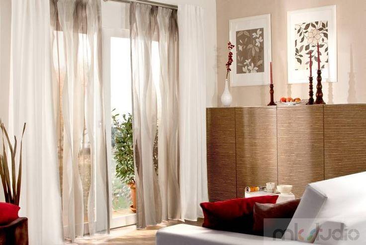 #curtains #cream #wnętrze #salon #dekoracje #dekoracjeokien #interior #wnetrza #zasłony #firany #okno #okna   http://www.mkstudio.waw.pl/inspiracje/