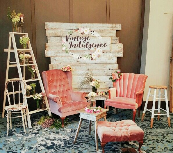 Nothing like vintage chairs to entice your guests to come sit and take selfies in your selfie station at your wedding!