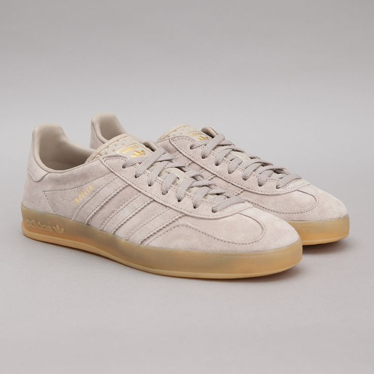 adidas Gazelle Indoor in Collegiate Silver / Gum
