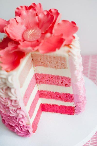 Cake Decorating In Oakleigh : 25+ best ideas about Pink ombre cake on Pinterest Rose ...