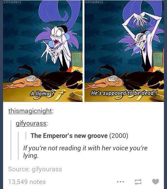 Emperor's new groove - Izma's voice