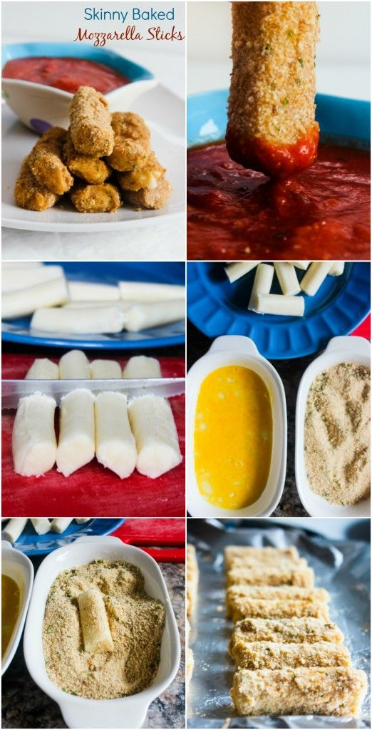 Check out Skinny Baked Mozzarella Sticks. It's so easy to ...