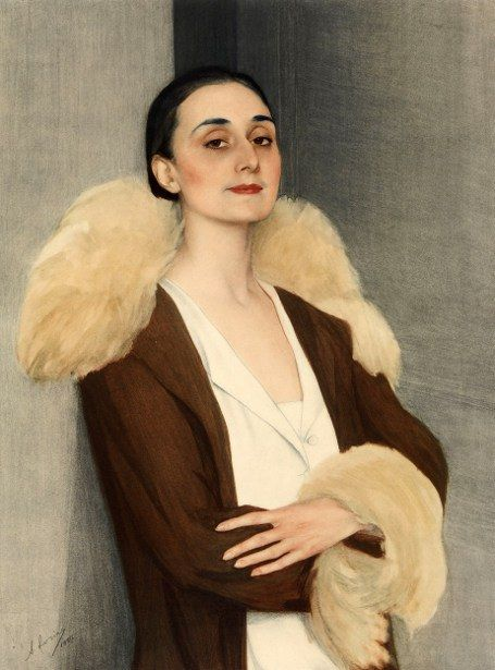 Portrait of Anna Pavlova by Savely Sorine (Russian 1878-1953)