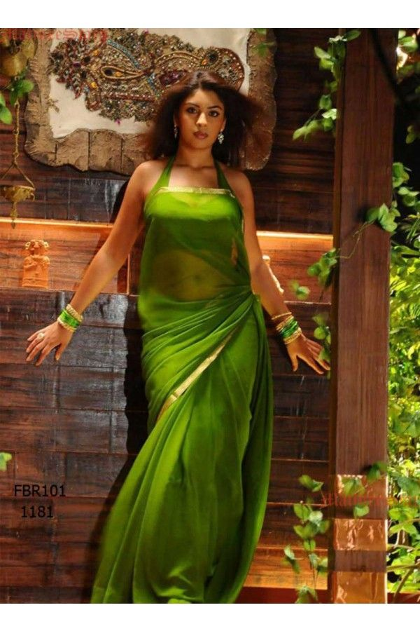 Fabboom New Richa Gangopadhyay In Parrotgreen #Saree FBR101-1181. Just Rs. 929.00