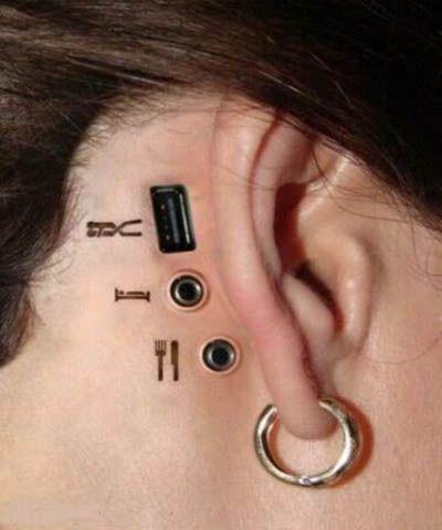 Biomechanical Plugin Tattoos