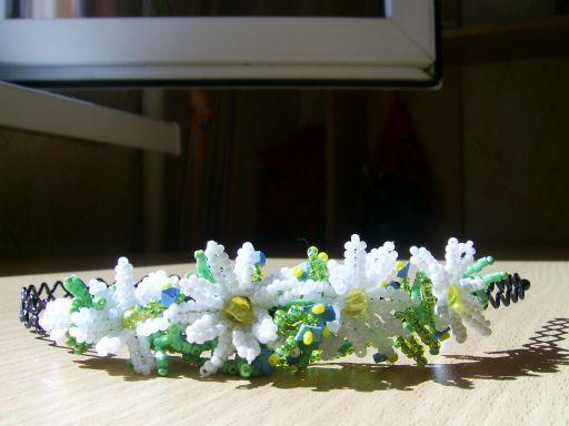 """Летние миниатюры. Ободок для волос """"Полевых цветов букетик"""""""