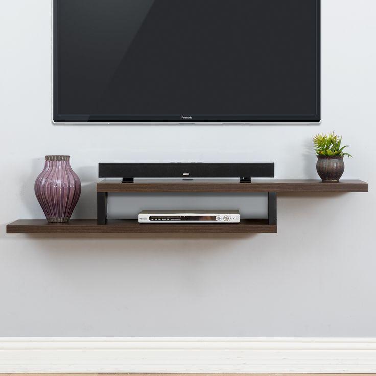 "Ascend 60"" Asymmetrical Wall Mounted TV Component Shelf"