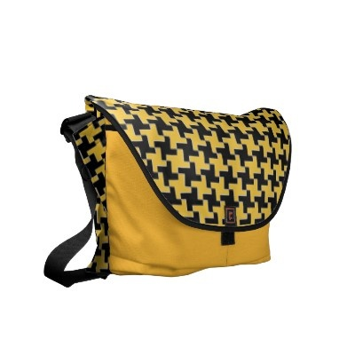 #Bags #messengerbags #piedepoule #zazzle #elenaindolfi  This cool custom messenger bag Made by a highly talented Zazzle artist called elenaind was tagged as texile, pied de poule, pattern, & elegant. Our custom messenger bags are a favorite for many people. You will find this exceptional saffron and pattern custom commuter bag in elenaind's store right alongside a large assortment of other customizable items available online in Zazzle's online marketplace.    The ultimate custom commuter…