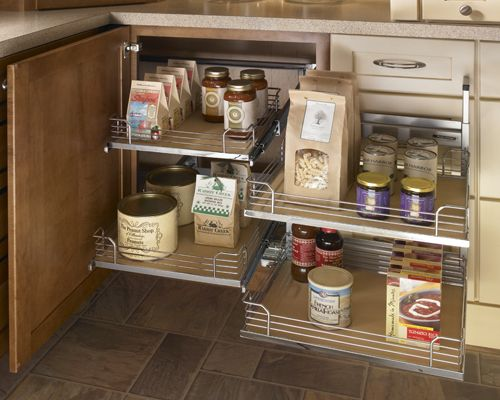 Awesome Blind Corner Cabinet Pull Out Shelves