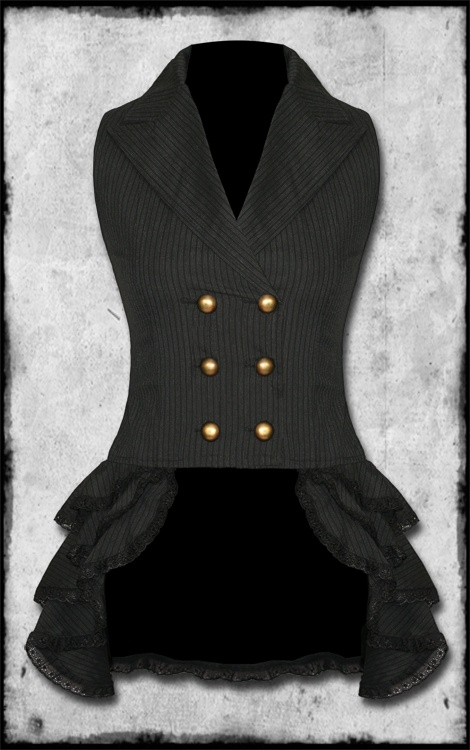 i love steampunk! wonder if it would be appropriate to have this for conferences...waistcoat..with bustle