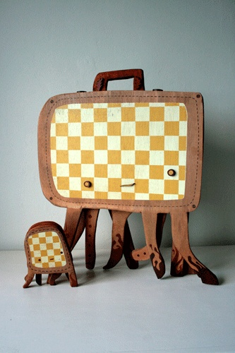 Lost Luggage (Gingham Style) by Graham Carter ... from upcoming 3D illustration exhibit.