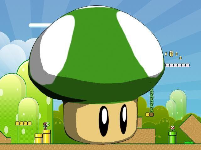 3D Model Super Mario 1Up Mushroom - 3D Model